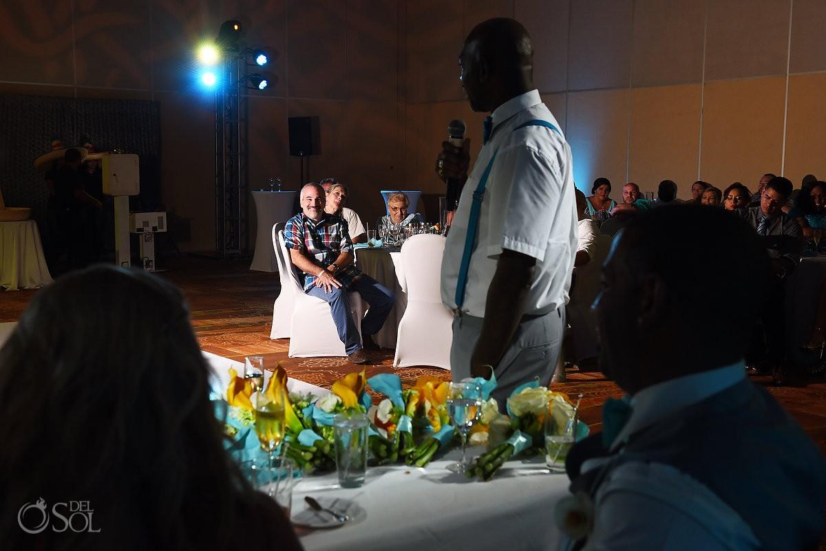 Destination wedding reception Beach Palace Cancun Mexico