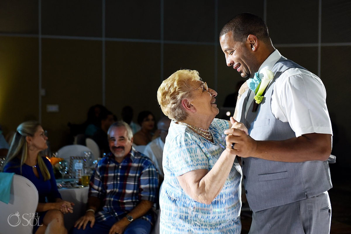 Lovely first dance grandma and groom Beach Palace Cancun Mexico