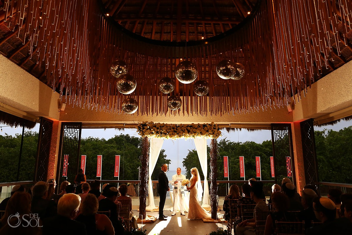 Destination Jewish wedding ceremony Paradisus Playa del Carmen Riviera Maya Mexico
