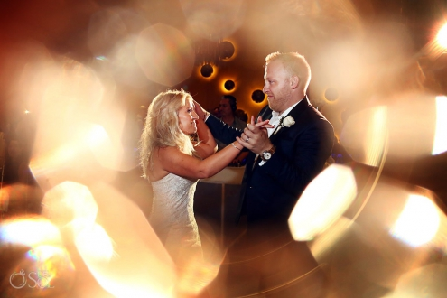 Bride and groom first Dance Paradisus Playa del Carmen Riviera Maya Mexico Wedding