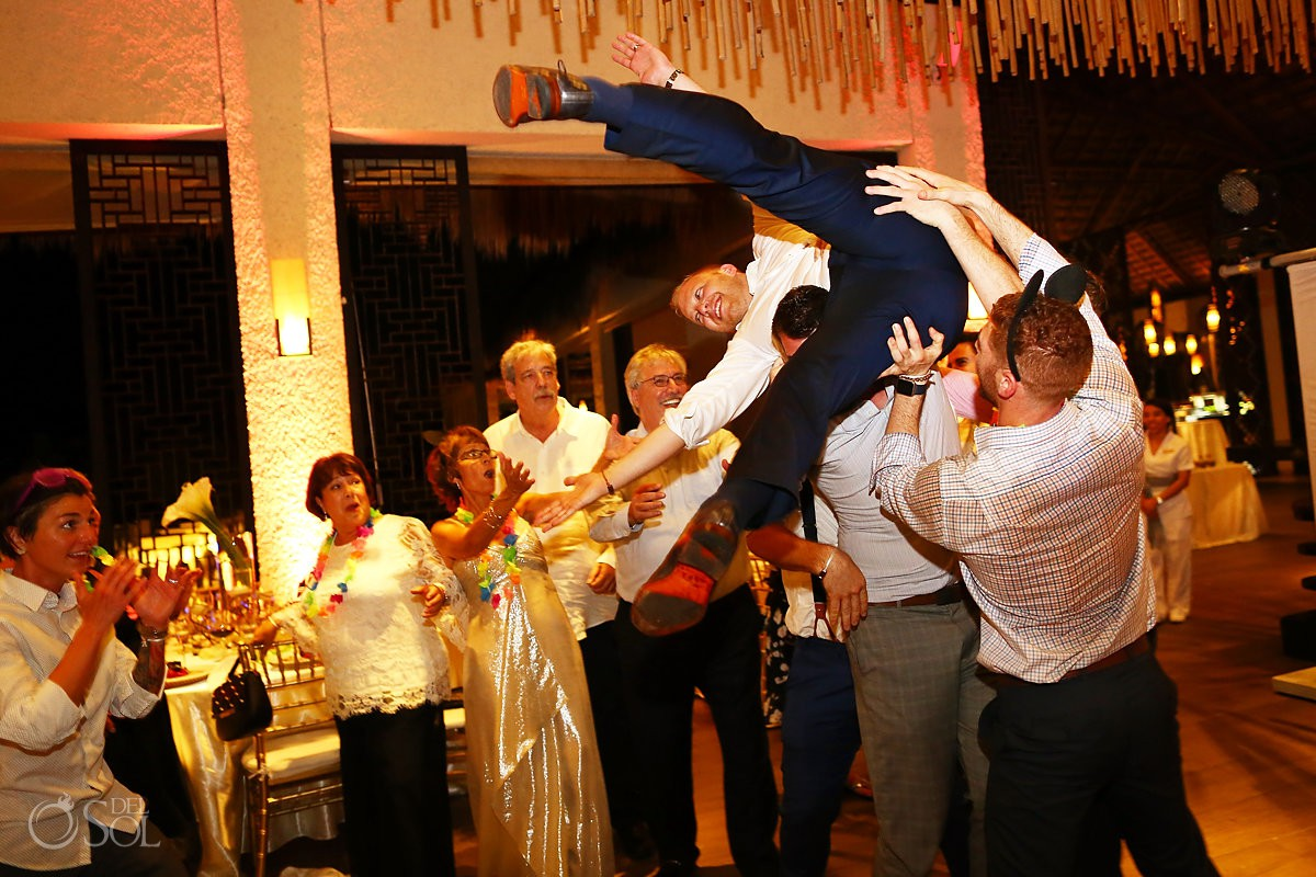 Fun jewish wedding reception Paradisus Playa del Carmen Riviera Maya Mexico