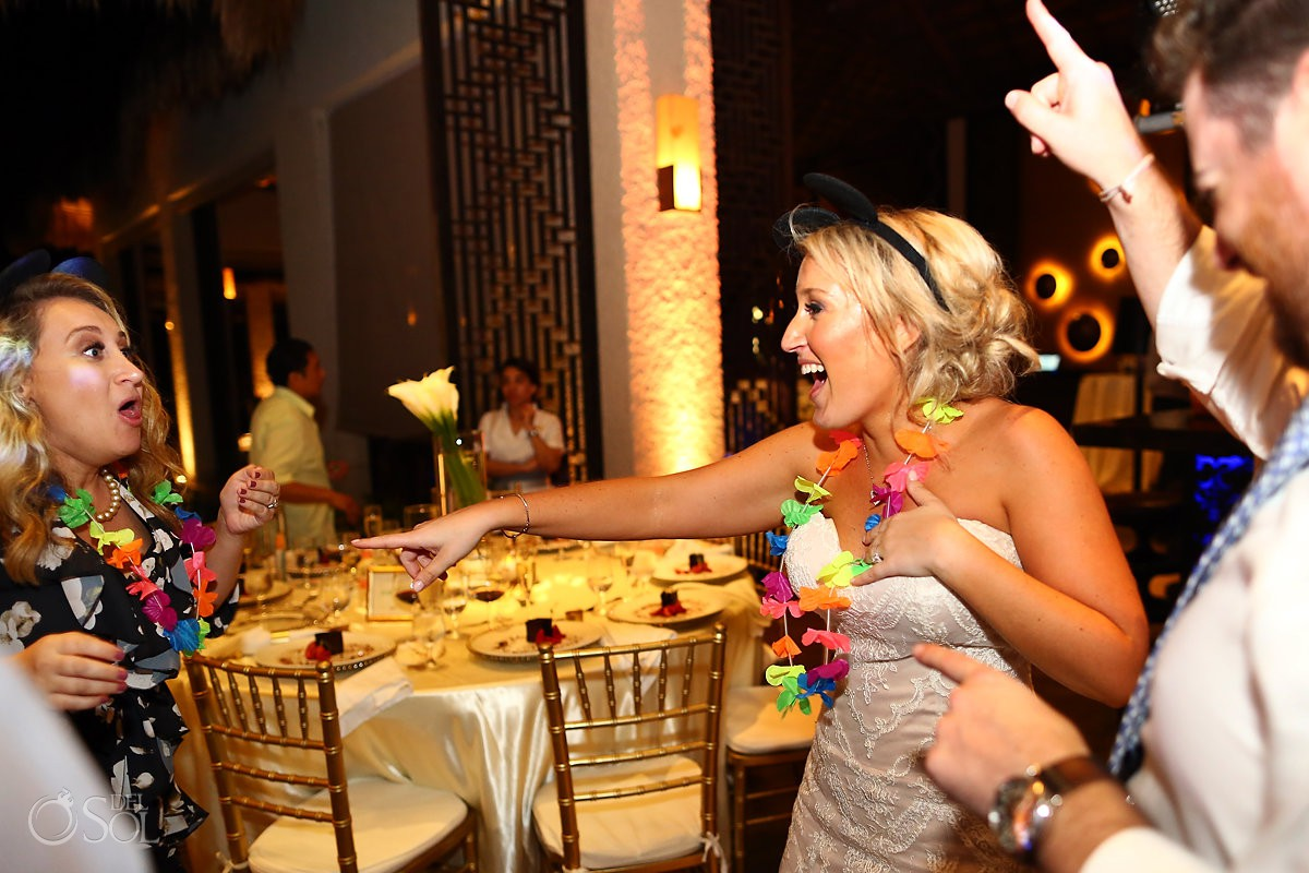 Bride dancing Paradisus Playa del Carmen Riviera Maya Mexico