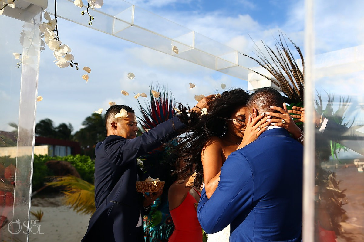 Destination wedding mayan wedding Kay Club Bahia Petempich Cancun Mexico