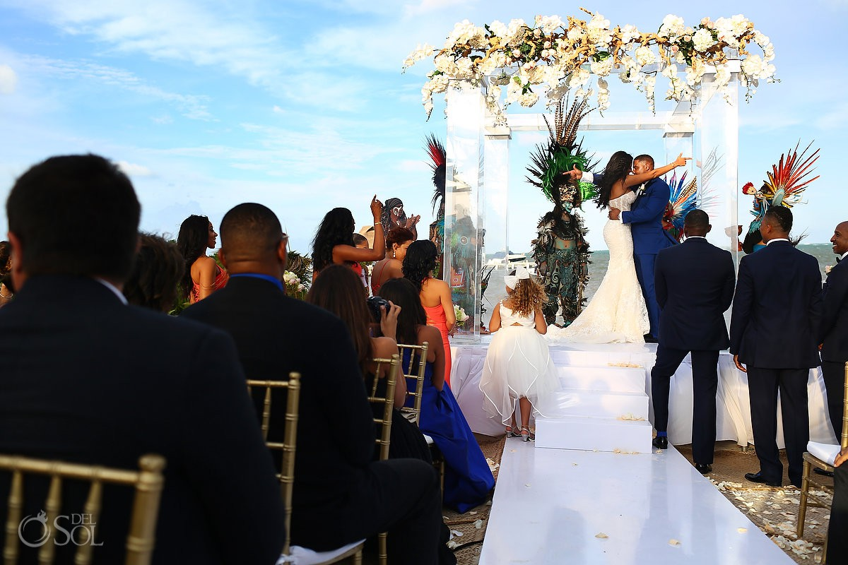 Kay Club wedding mayan ceremony Bahia Petempich Cancun Mexico