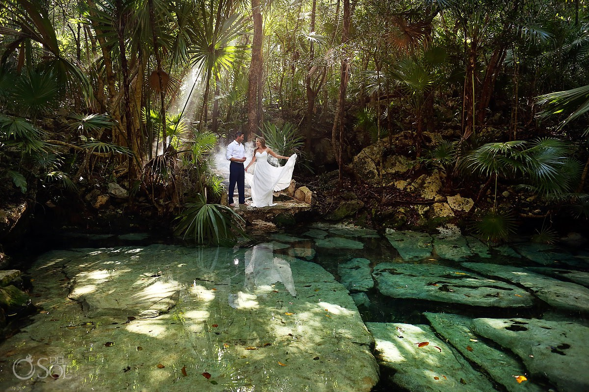 Trash the dress destination venues Cenote Riviera Maya Mexico