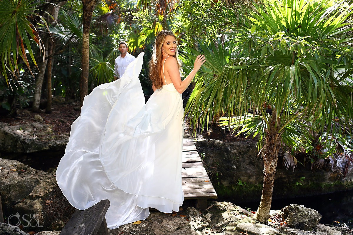 Cenote Trash the Dress Riviera Maya Mexico