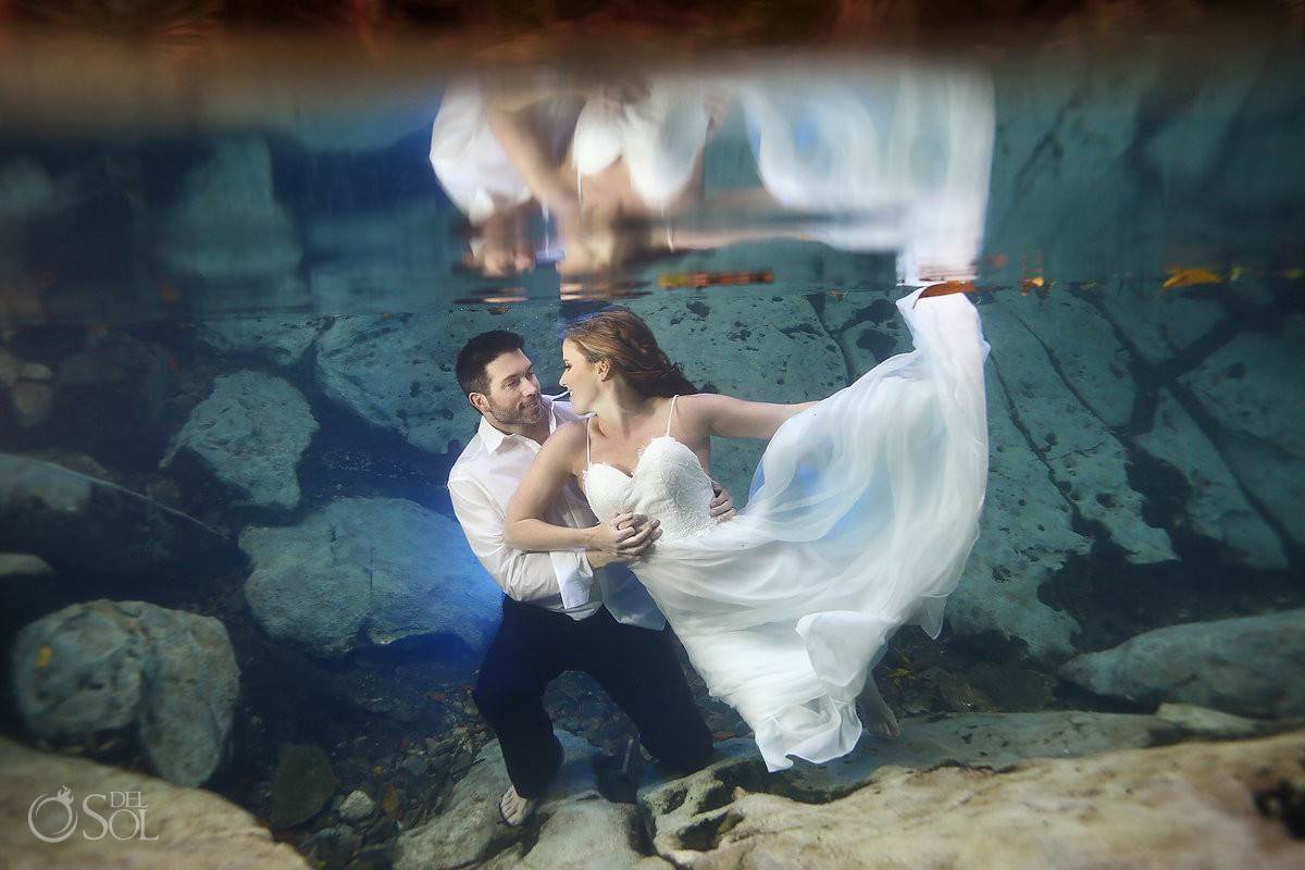Underwater trash the dress photo