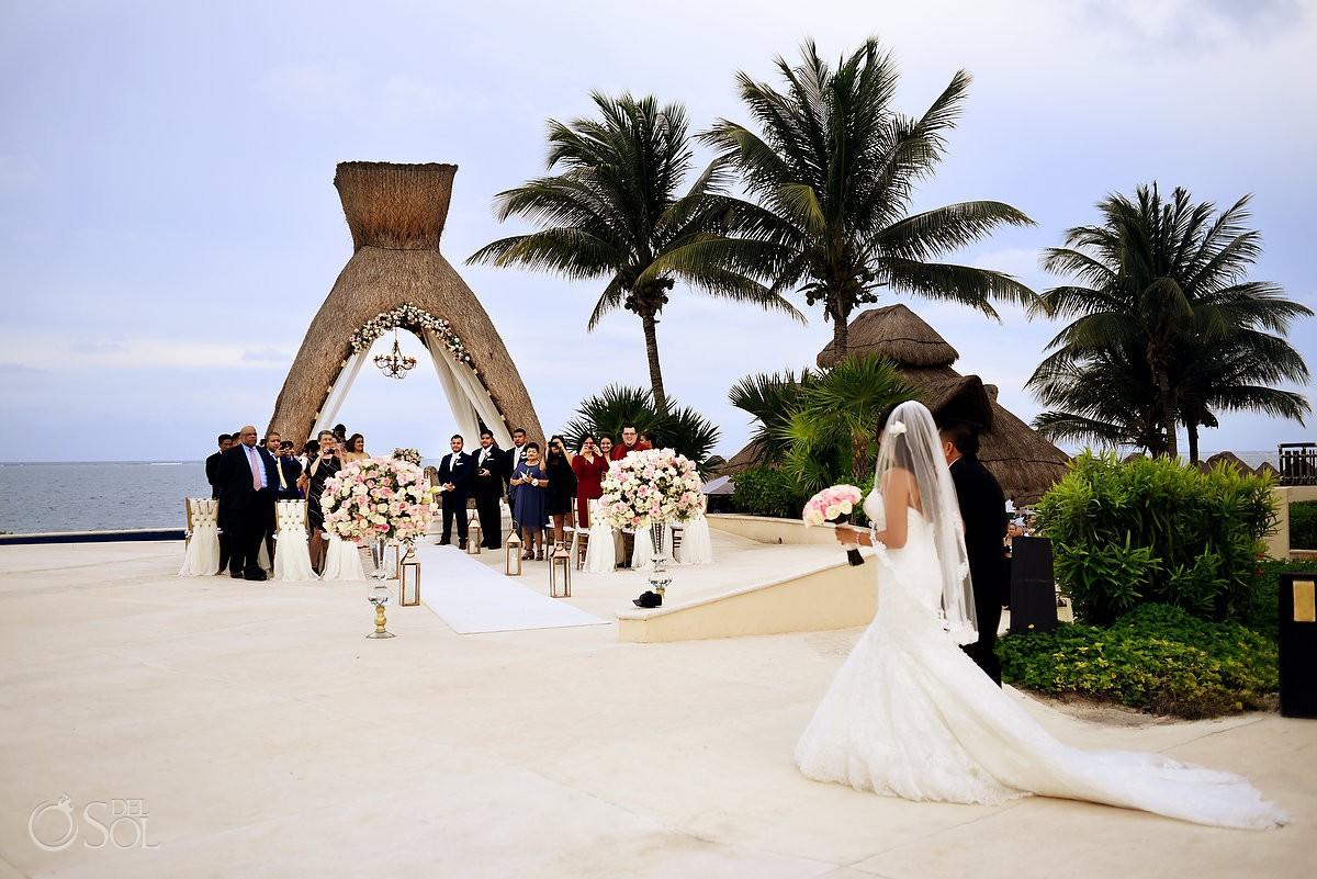 Beach wedding at Dreams Riviera Cancun Gazebo