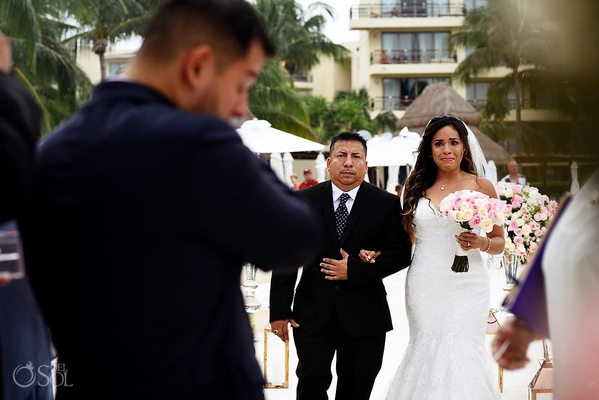 Destination wedding at Dreams Riviera Cancun Gazebo mexico