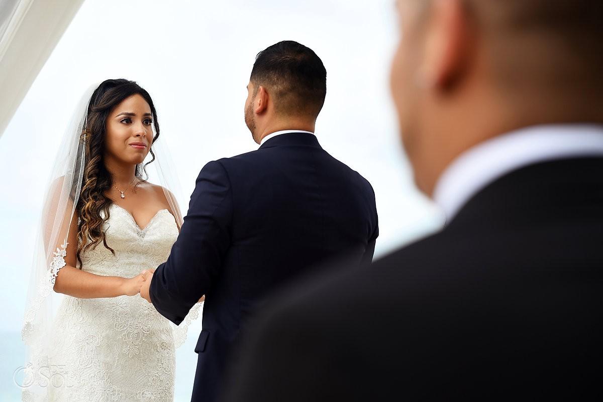 she said yes Dreams Riviera Cancun Gazebo wedding ceremony