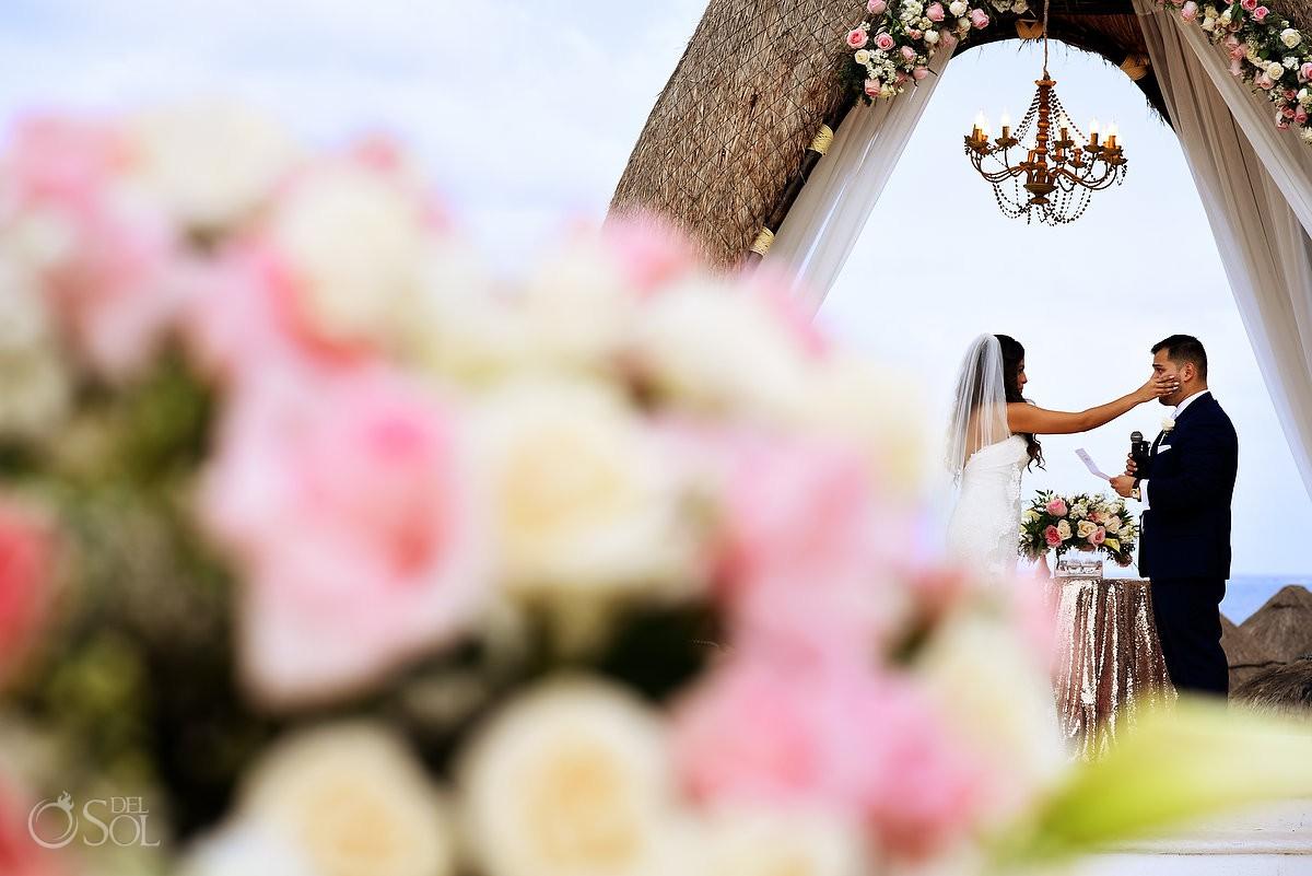 Dreams Riviera Cancun Gazebo first kiss wedding photo travel for love