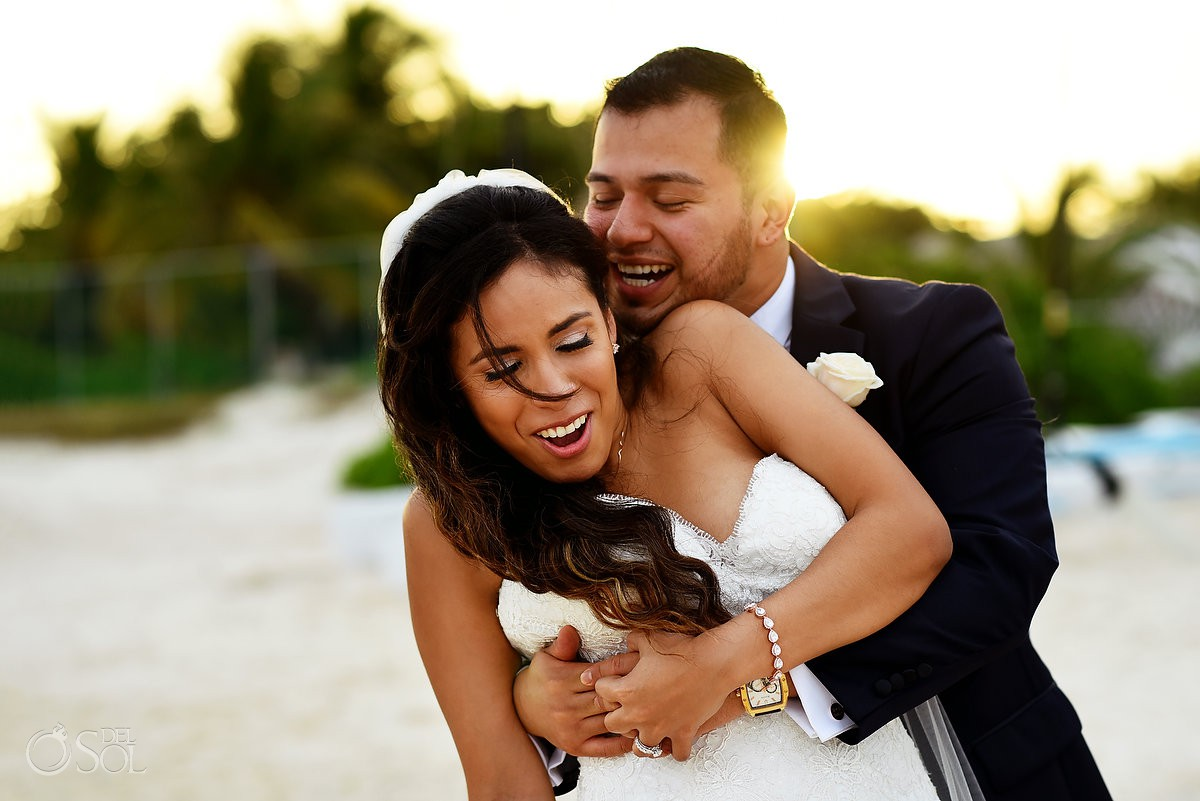 bride and groom photo Dreams Riviera Cancun mexico travel for love