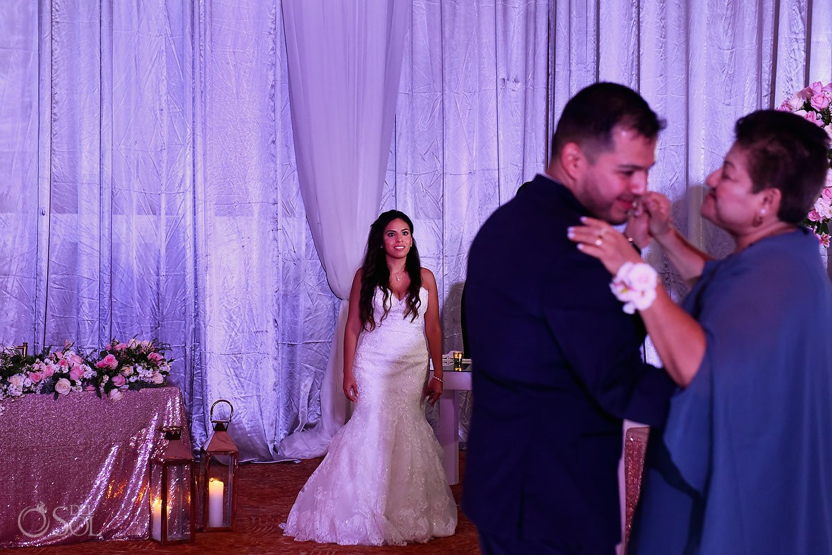 ballroom wedding reception at Dreams Riviera Cancun