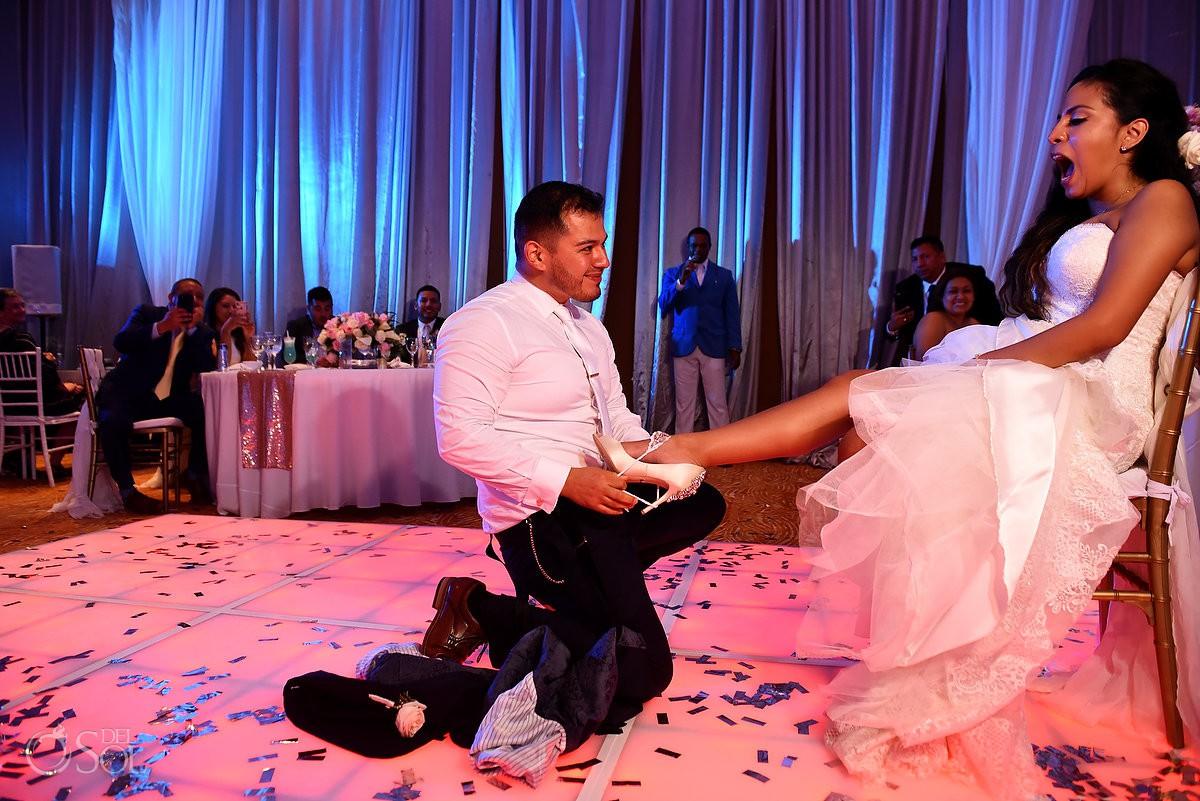 Dreams Riviera Cancun ballroom garter belt