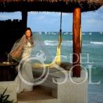 Mahekal Beach Wedding bride portrait Playa del Carmen Mexico
