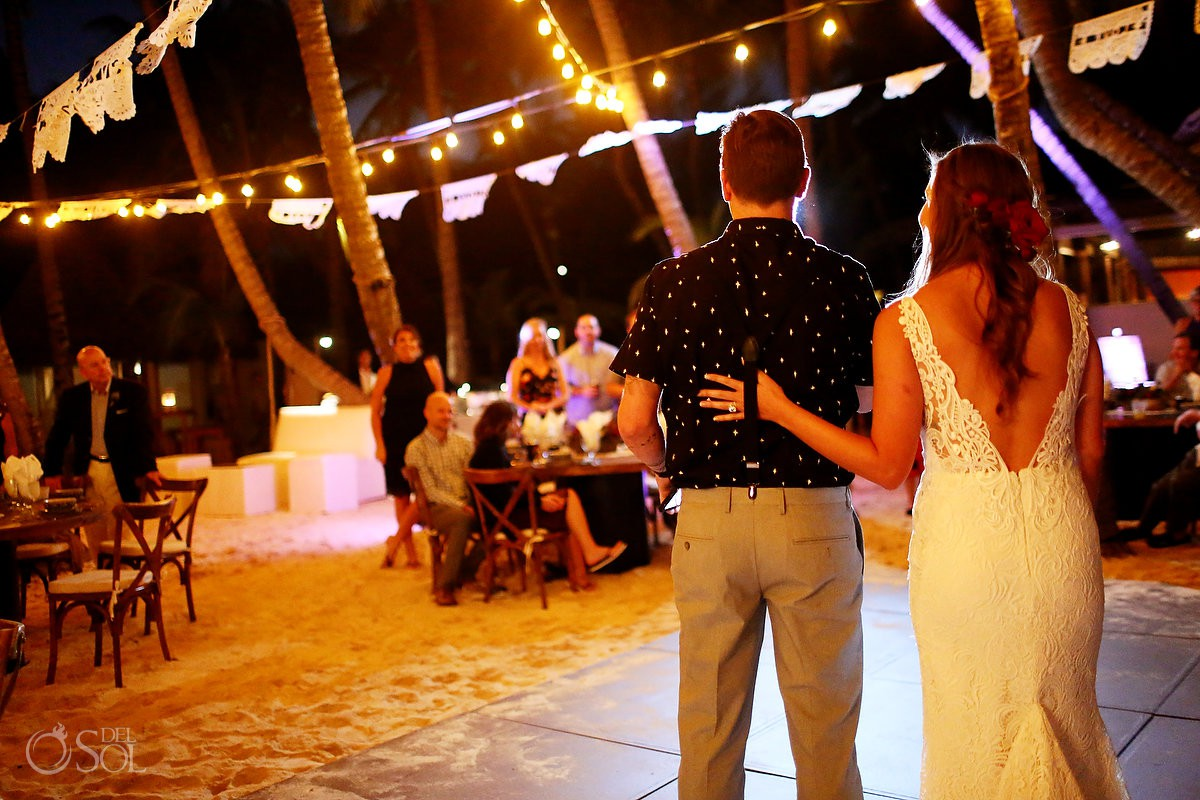 Weding reception toast Mahekal Beach Resort Playa del Carmen Mexico