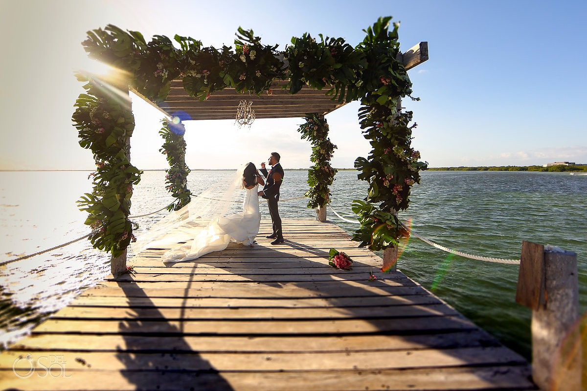 Best wedding venue for get married beach Cancun Elopement Nizuc Resort and Spa Mexico