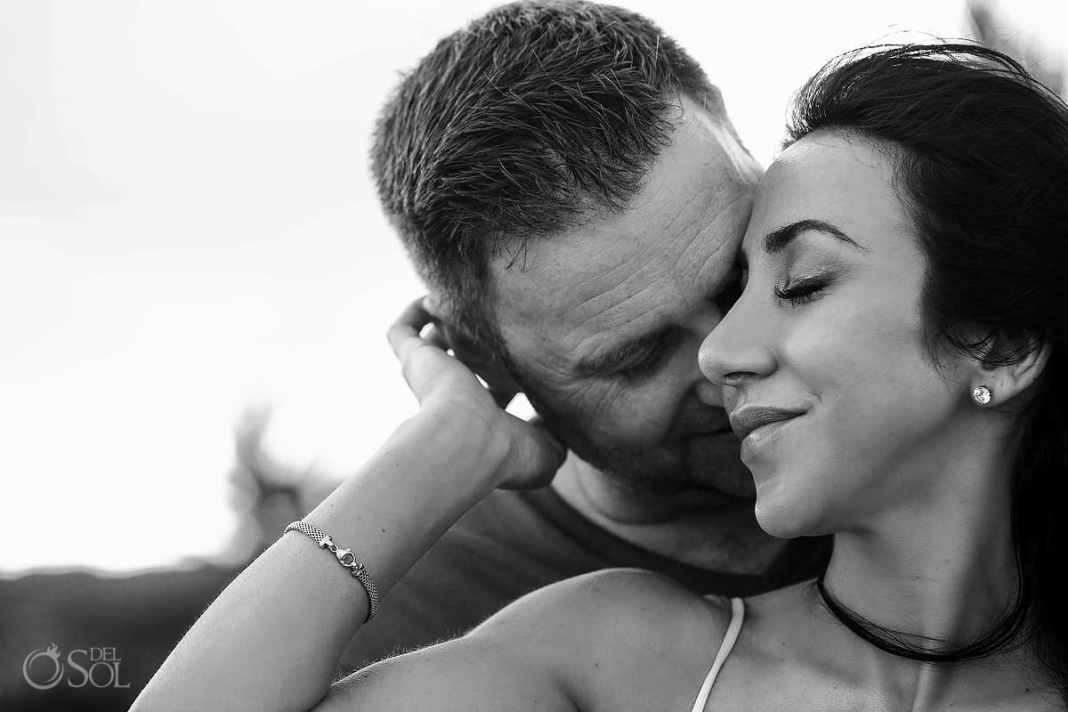 kiss and embrace tulum elopment photo