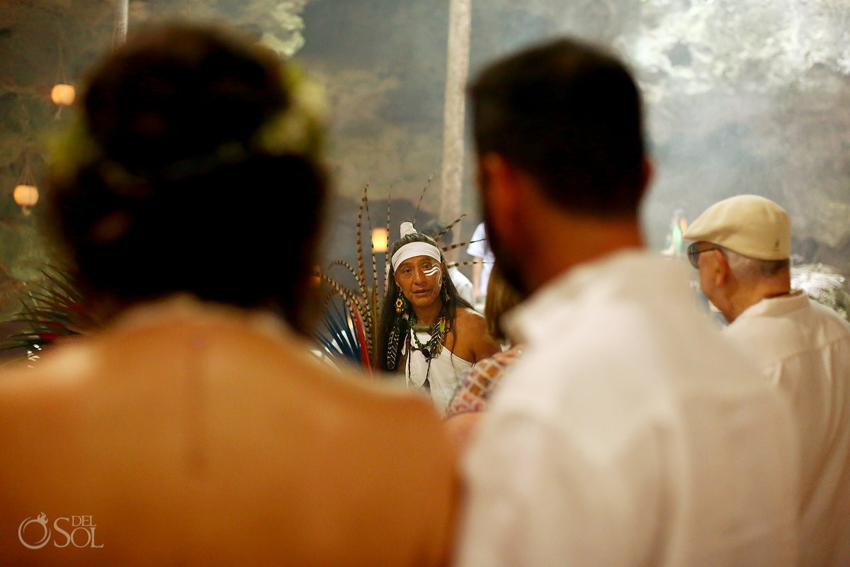 Chaman minister Mayan Ceremony Special 20 year vow renewal cenote Riviera Maya Mexico