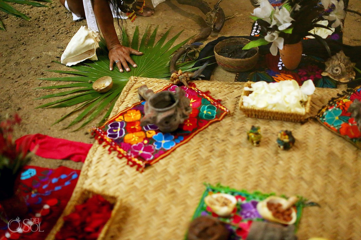 earth blessing Special 20 year vow renewal cenote Mayan ceremony Riviera Maya Mexico