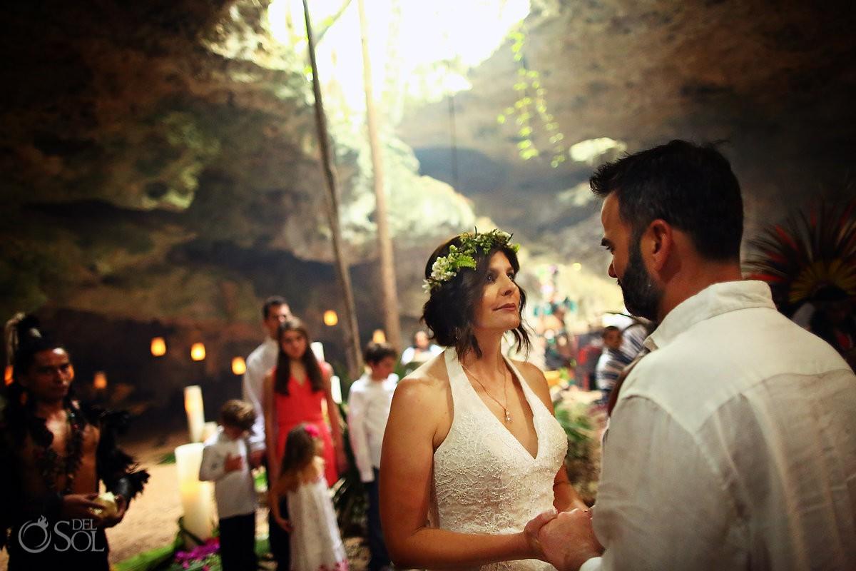 Amazing wedding venue Special 20 year vow renewal cenote Mayan ceremony Riviera Maya Mexico