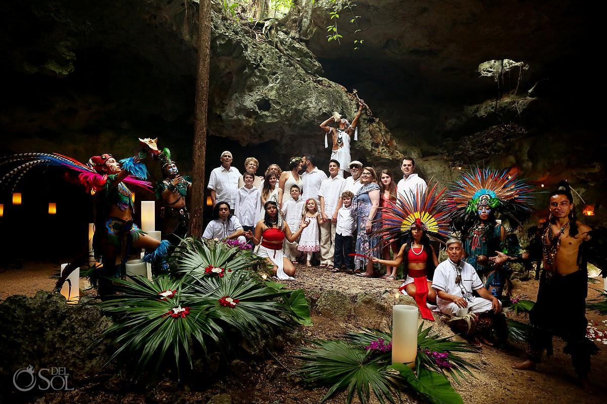 Best destination Wedding venue vow renewal ideas cenote Mayan ceremony Riviera Maya Mexico