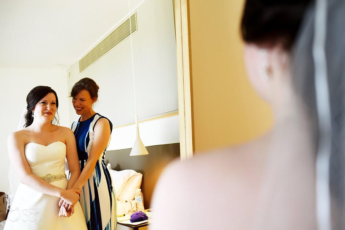 Getting ready moments Finest Playa Mujeres Wedding Stone Gazebo Ceremony Cancun