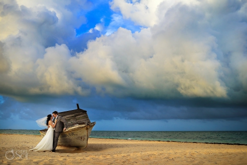 Wedding beach portraits Finest Playa Mujeres Wedding