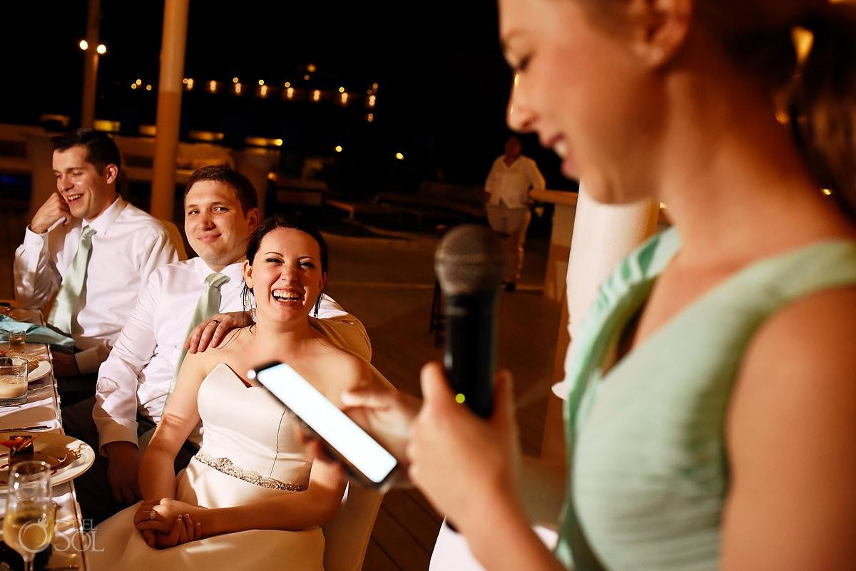 Wedding reception speeches Finest Playa Mujeres Cancun