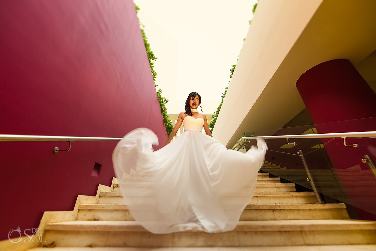 Bride to be engagement photography Hyatt Ziva Cancun Mexico.