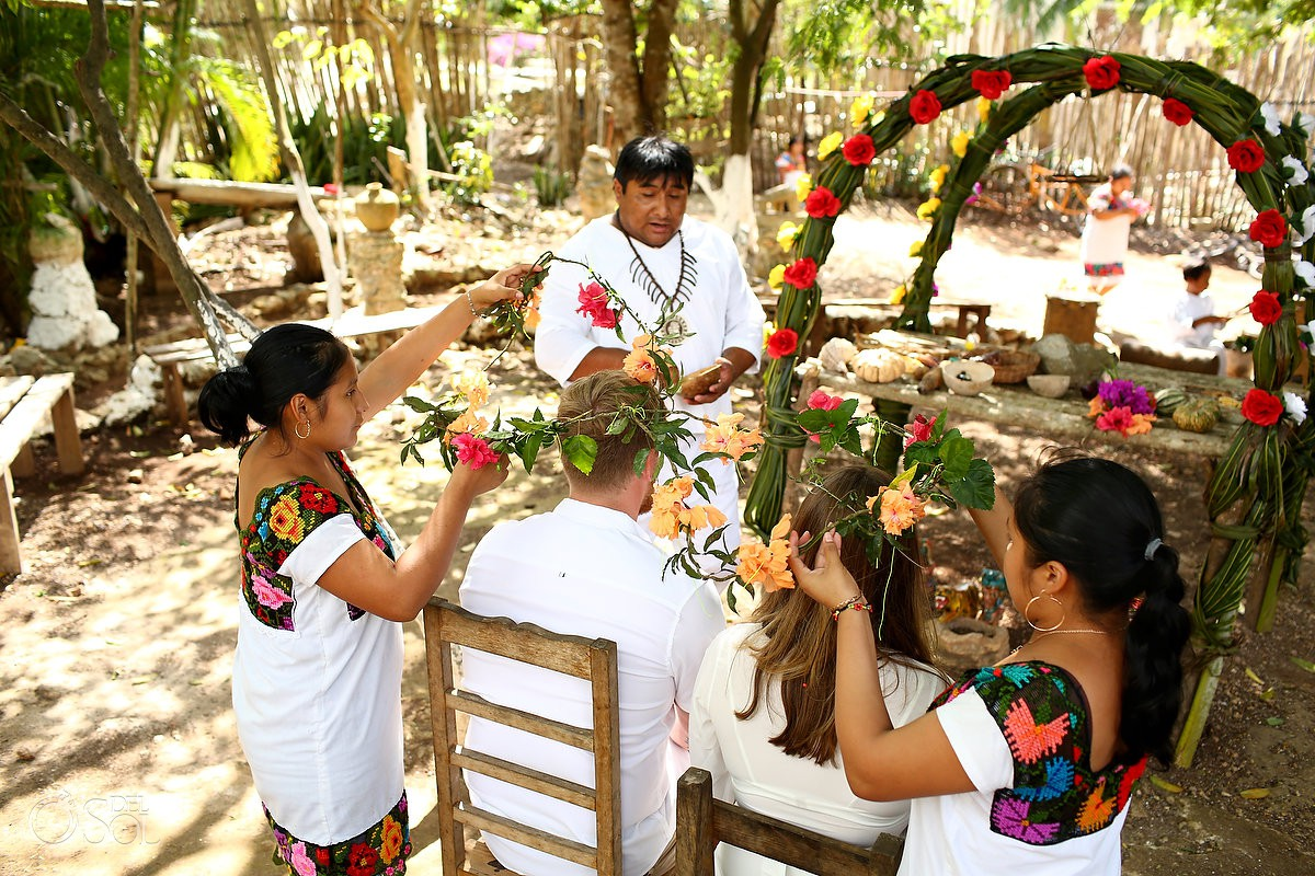 Traditional mayan ceremony vow renewal honeymoon photography Riviera Maya Mexico
