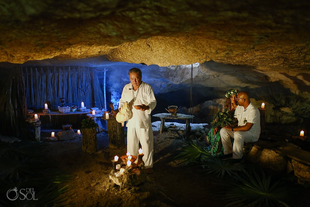 Mayan Elopement Ceremony Riviera Maya Cenote weddings Mexico