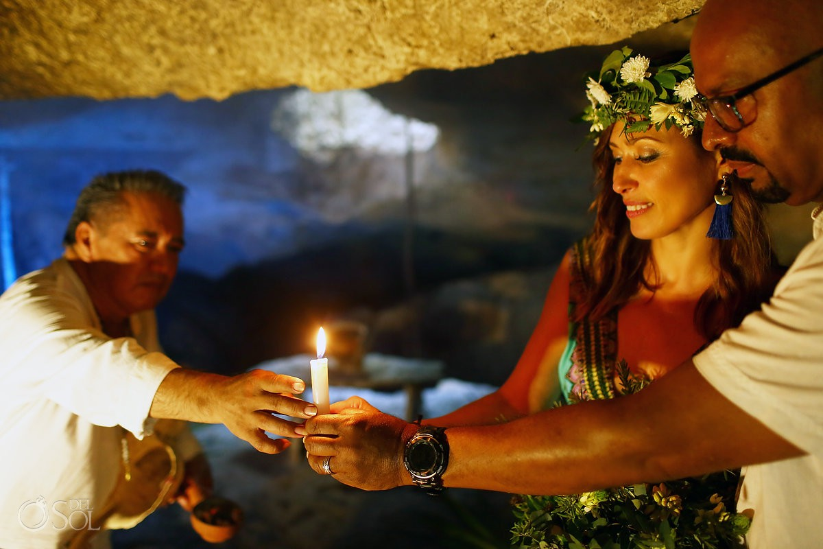 Mayan Elopement Ceremony Riviera Maya Cenote Mexico