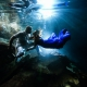 Underwater photography Elopement adventure Riviera Maya Cenote Mexico