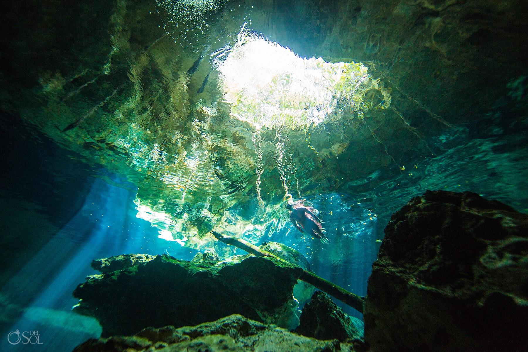 #Aworldofitsown underwater photography Cenote Riviera Maya Mexico