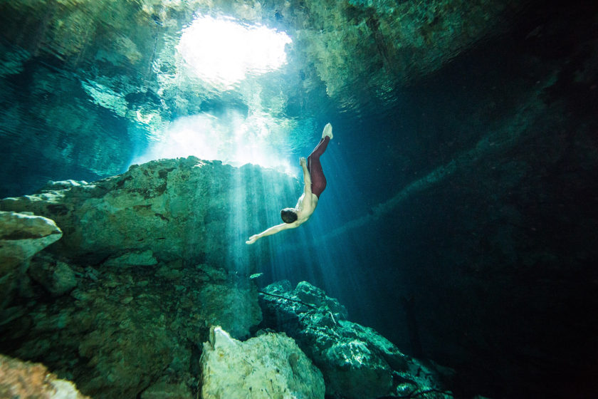 gabriel forestieri underwater dancer fine art photography Cenote Riviera Maya Mexico