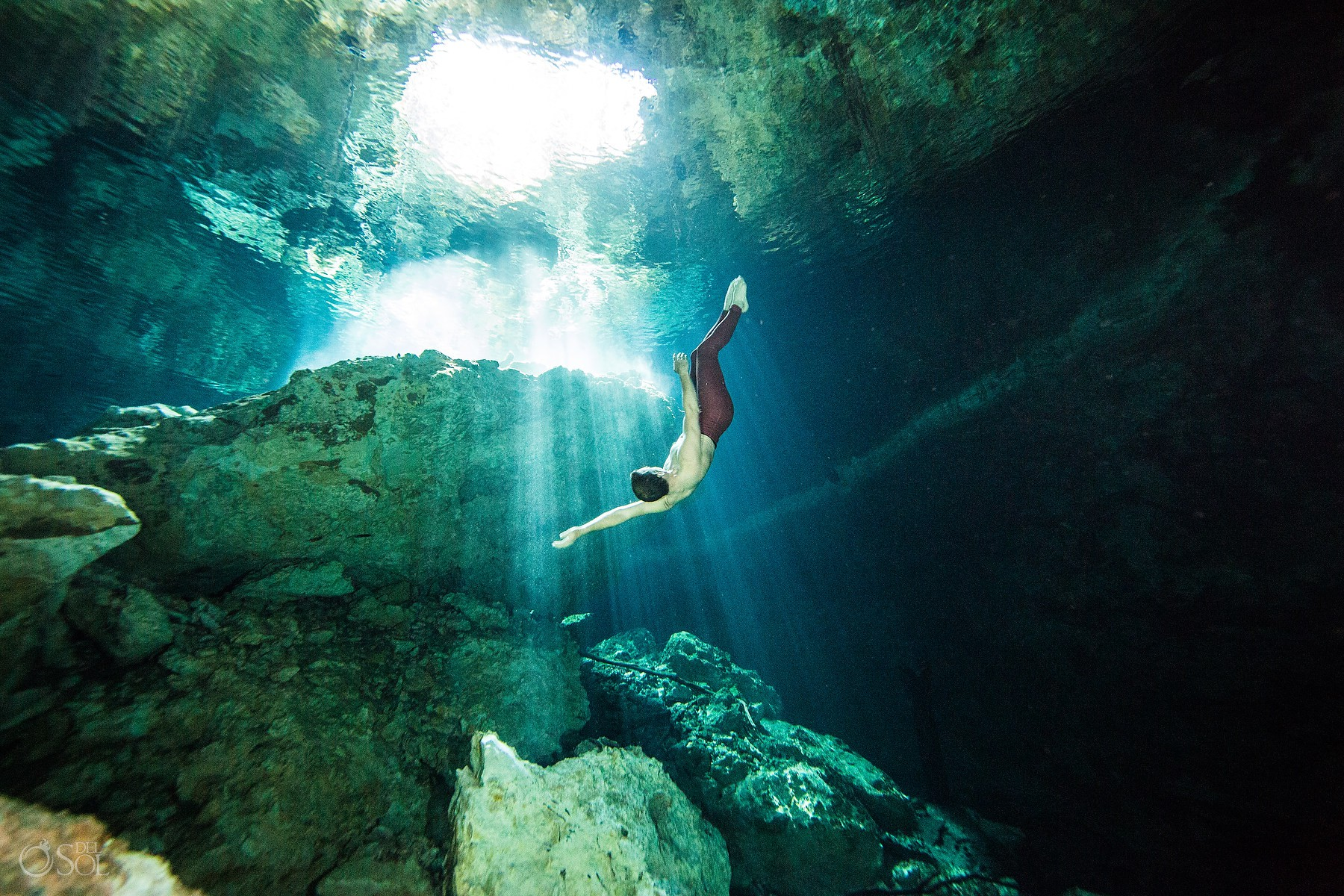 Gabriel Forestieri Underwater dancer Movement Invention Project Cenote Riviera Maya Mexico
