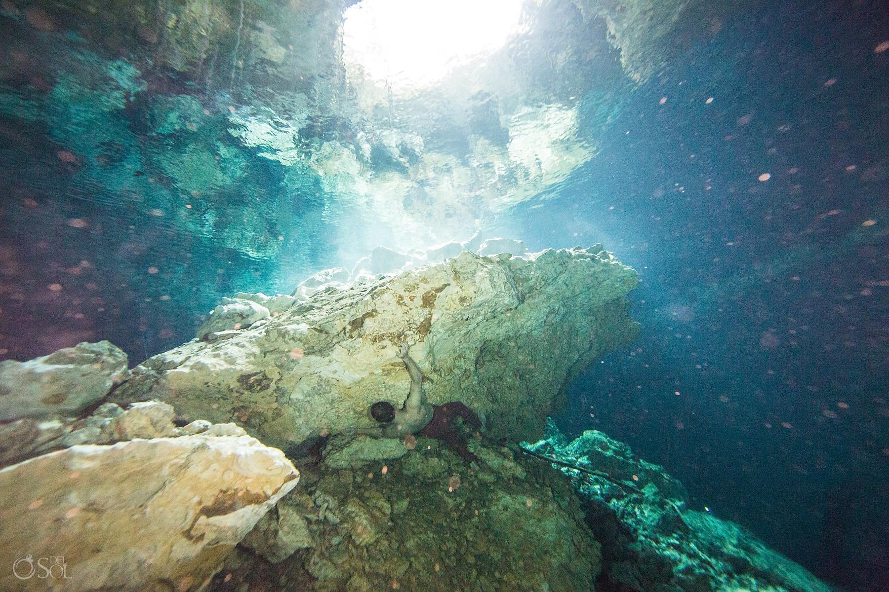 gabriel forestieri underwater dancer fine art photography Cenote Riviera Maya Mexico