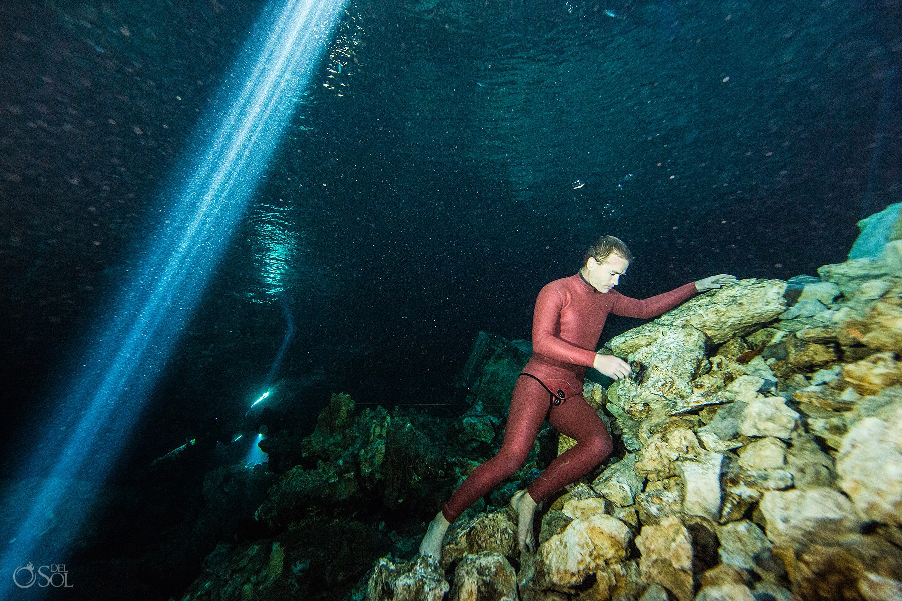 Healing art gabriel forestieri Underwater dancer Movement Invention Project Cenote Riviera Maya Mexico