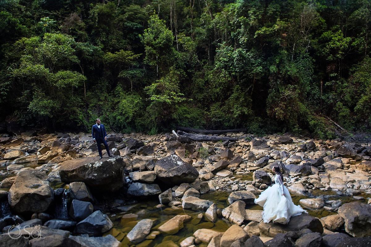 Cerro Azul Bride and Groom Trash the Dress Panama City Panama