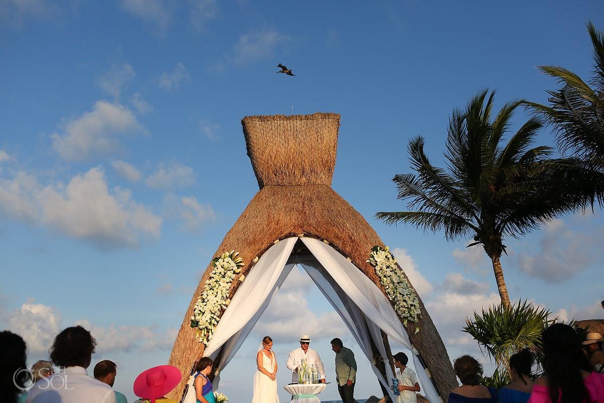 Destination beach wedding Gazebo venue Dreams Riviera Cancun Resort Mexico