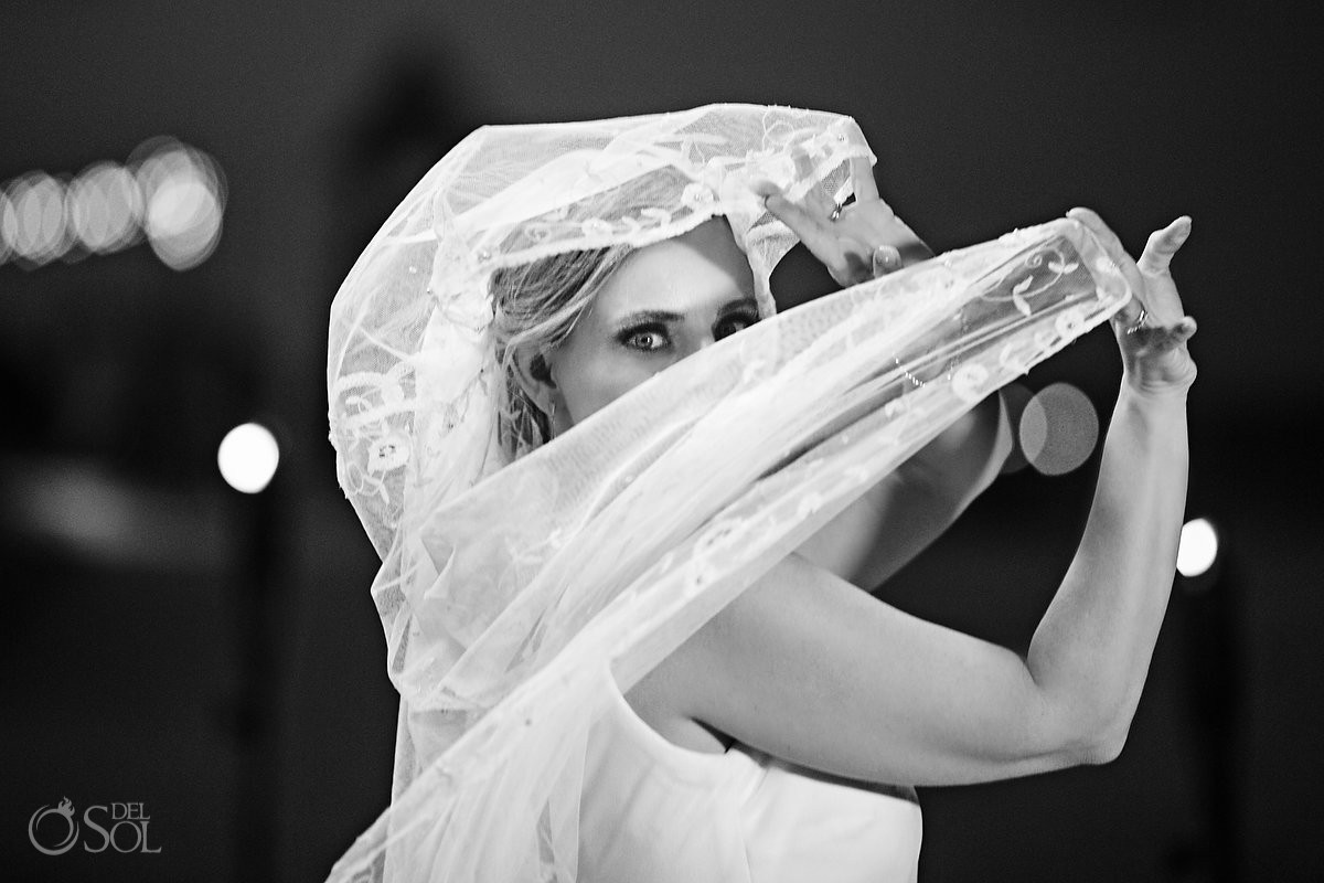 Bride wedding portrait Dreams Riviera Cancun Resort Cancun Mexico