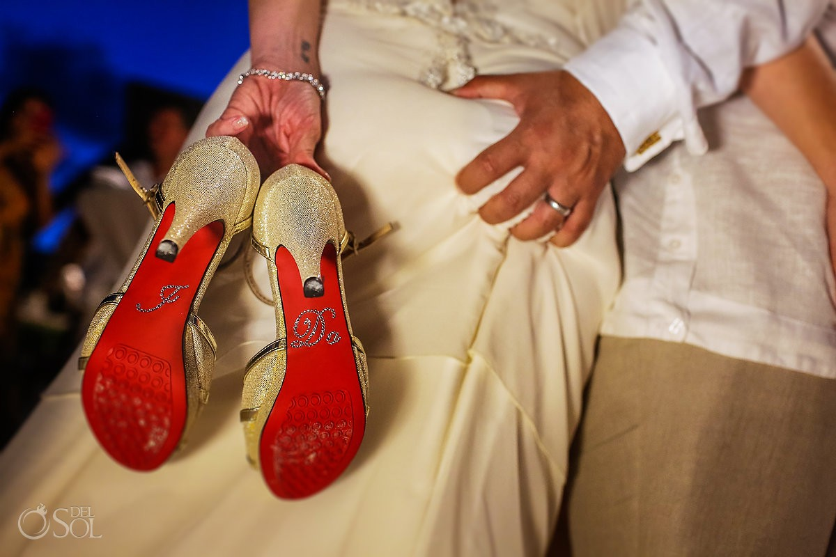 Bride and groom fun wedding moments Dreams Riviera Cancun Resort Mexico
