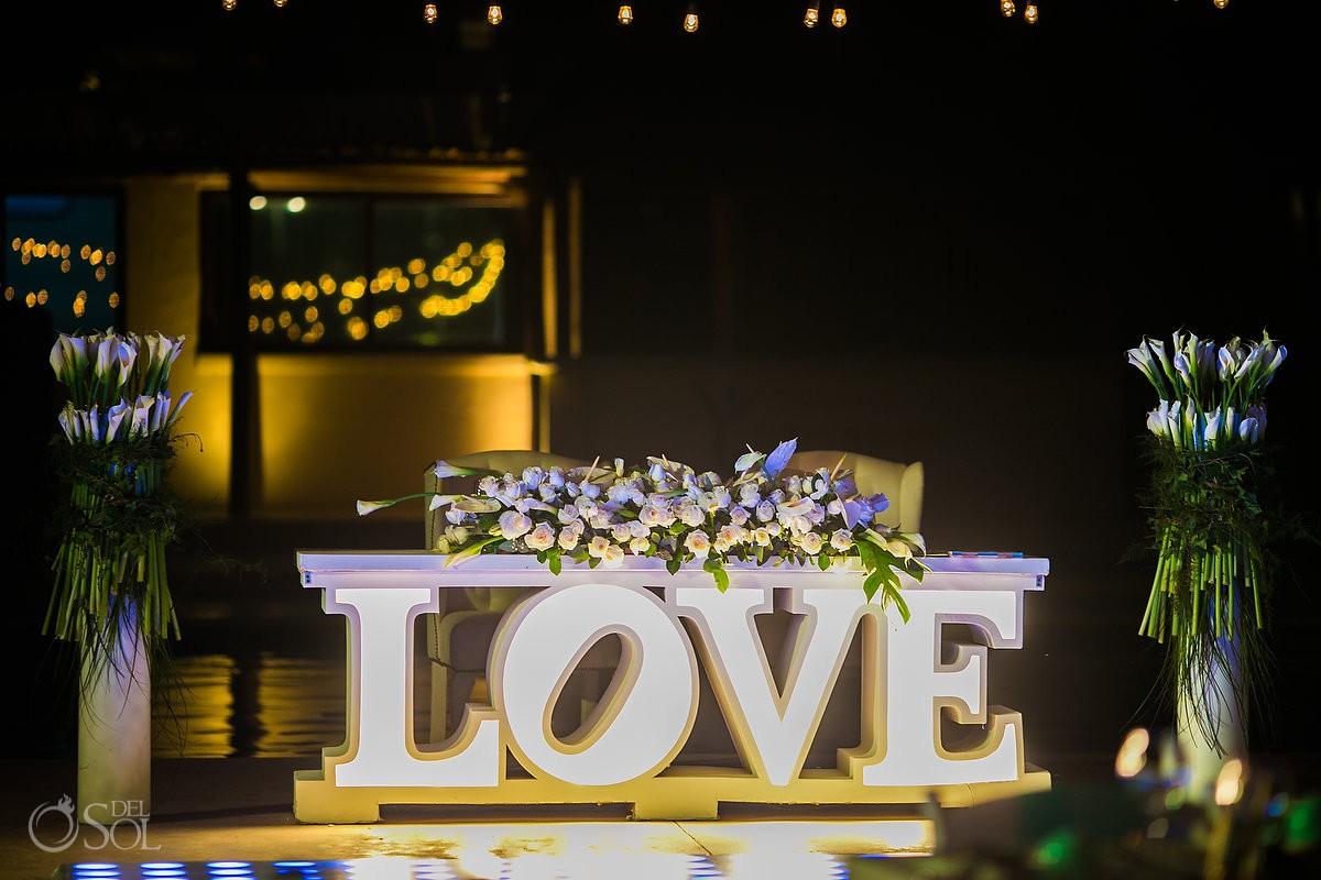 Dream Wedding set up Dreams Riviera Cancun Resort Mexico