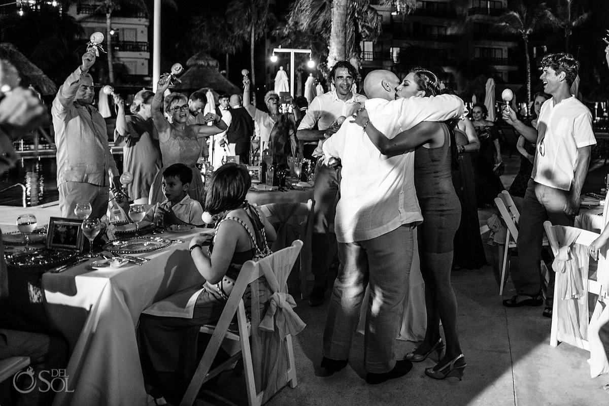 Wedding reception moments Dreams Riviera Cancun Resort Mexico