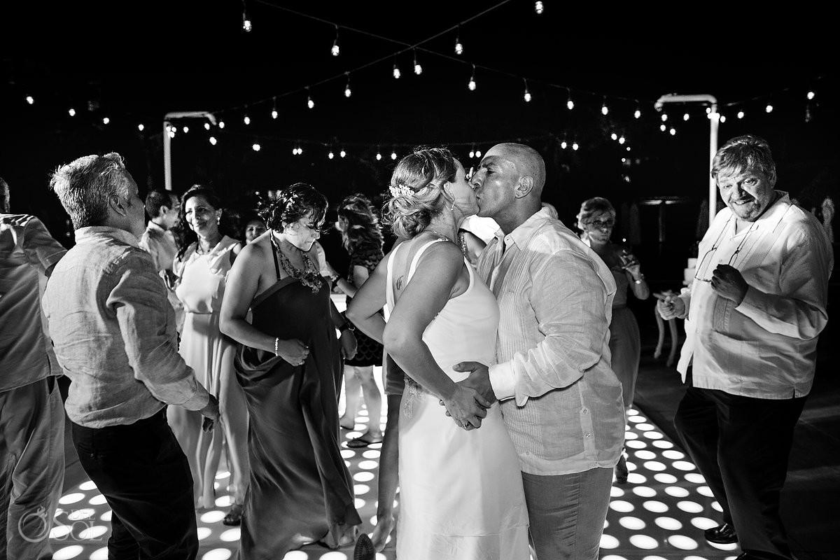 Wedding reception party Dreams Riviera Cancun Resort Mexico