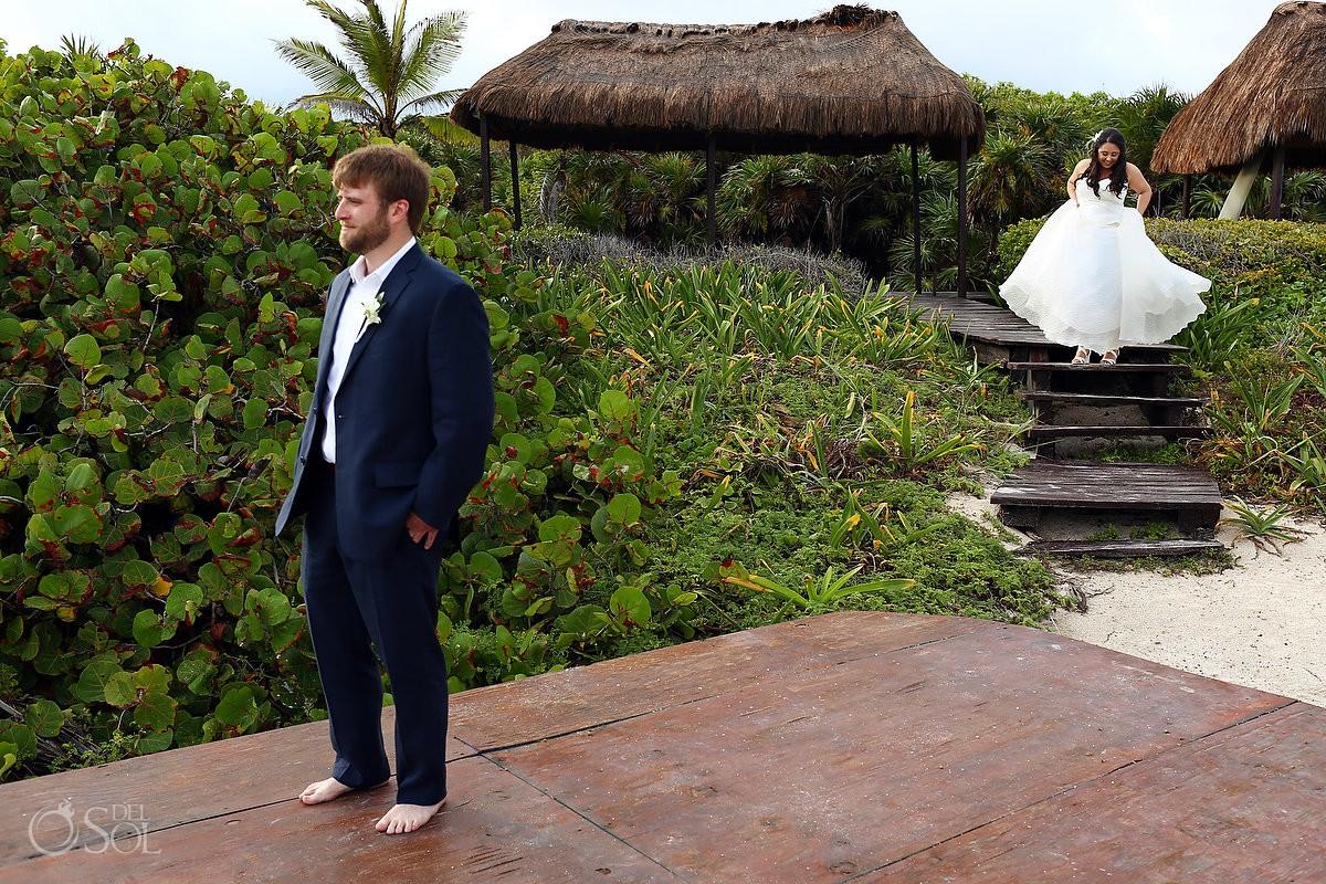Dreams Tulum Beach Wedding first looks