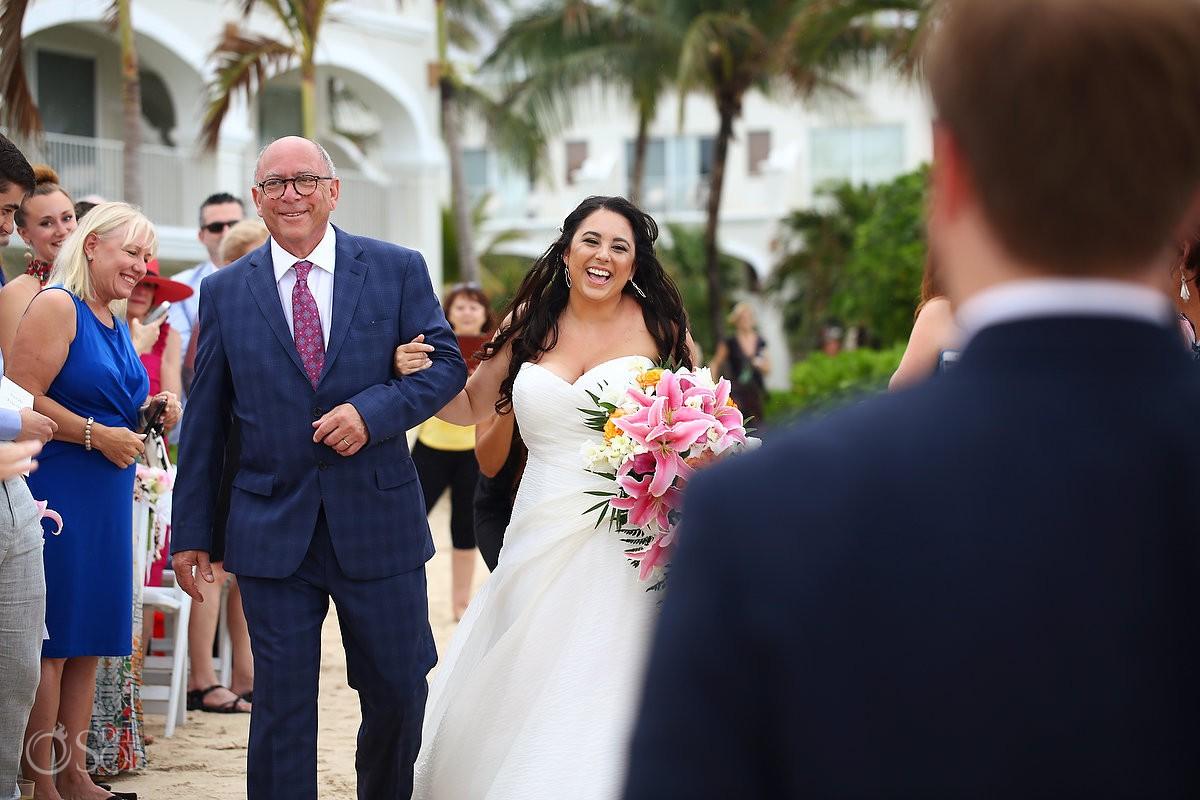 Dreams Tulum Beach Wedding ceremony