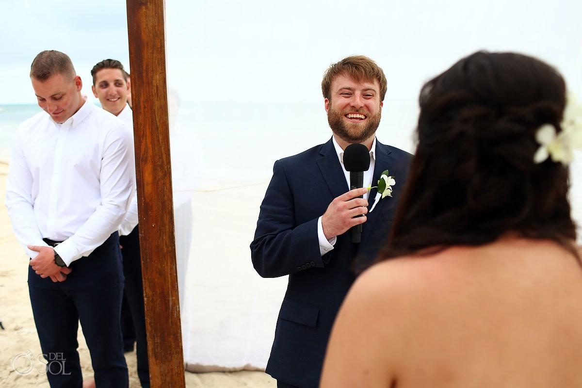 Dreams Tulum Beach Wedding first look