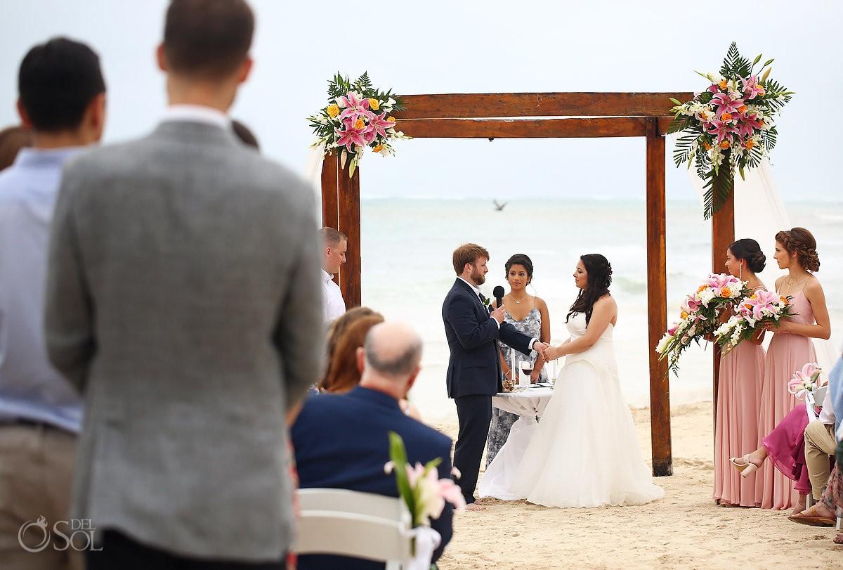 Dreams Tulum Beach Wedding emotional moment